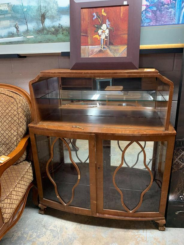 Gorgeous Solid Wood Cabinet with Skeleton Key
