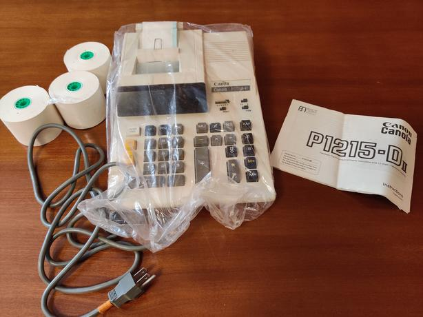Vintage Canon Canola Electronic Printing Calculator P1215-D II
