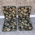 2 Outdoor Designer Patio Chair Cushions High Back As New Double Sided