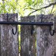 Set of saddle racks, bridle hanger and blanket hanger