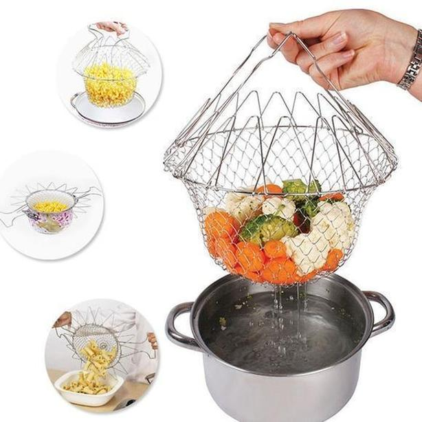 Collapsible Wire Basket ($16 new)
