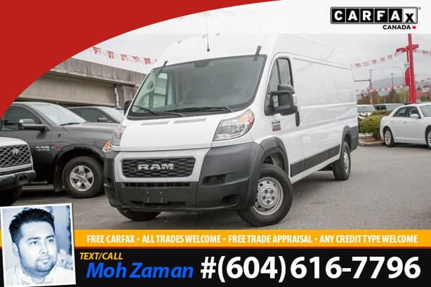 2019 Ram ProMaster Cargo Van | 159 EXT WB, 1-Owner, No Accidents