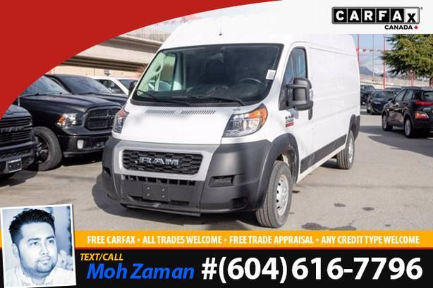 2020 Ram ProMaster 2500 Cargo Van | 159 WB, No Accidents, Bluetooth