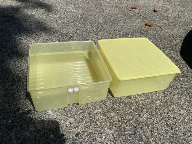 Tupperware produce bins