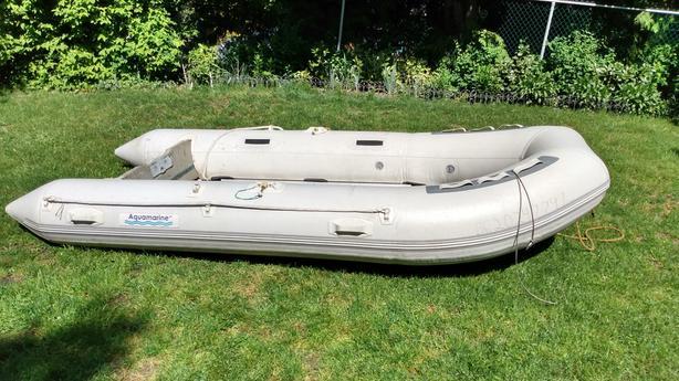 12.5 ft Aquamarine inflatable boat with aluminum floor