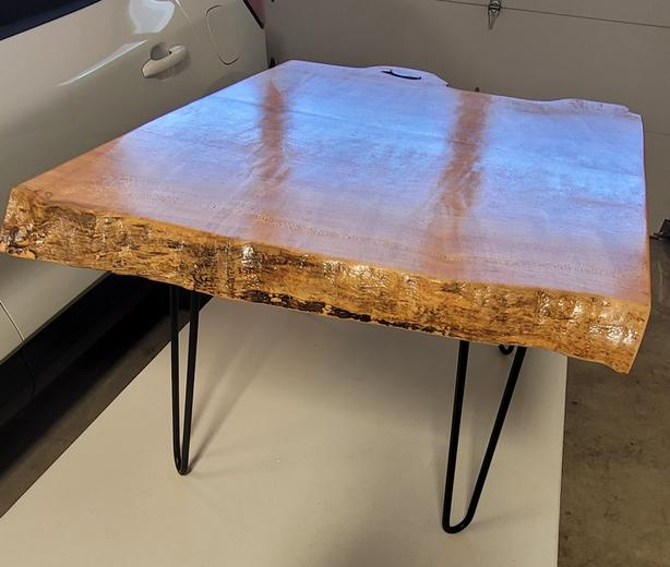 Hand Made, B.C. Big Leaf Maple Coffee Table with Live Edge