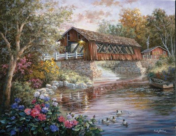 "Sure-Lox Nicky Boehme ""Country Thoroughfare"" 1000 Piece Puzzle"
