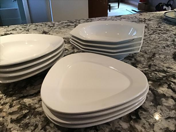 Set of  4 white dishes