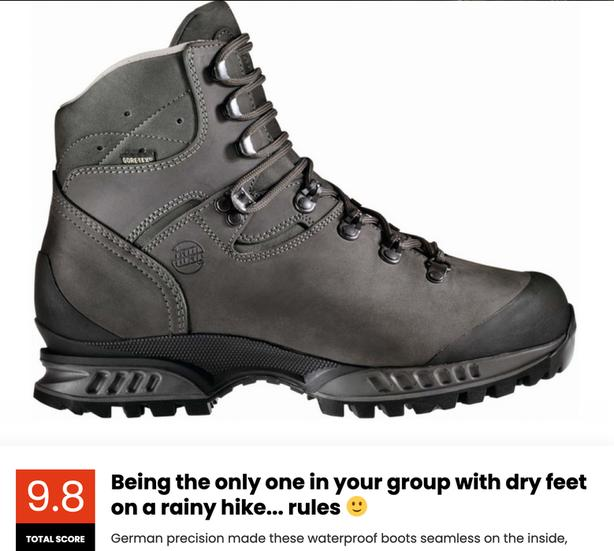 Hanwag Hiking Boots, like new, size 8.5