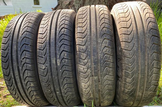 Installed and balanced 4  195 65 15 Pirrelli  A/S tires