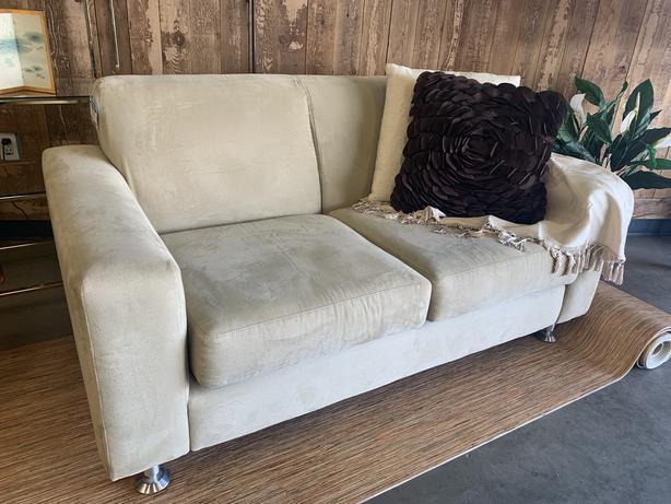 Romano Brand Beige Loveseat Couch