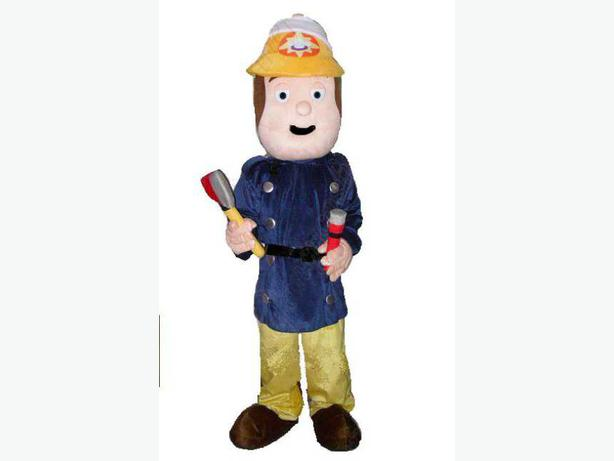 Log In Needed 25 Fireman Sam Adult Fancy Dress Mascot Costume Hire 25 Whole Wk End