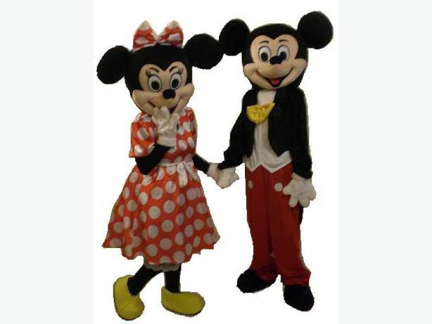 25 MINNIE and MICKEY MOUSE DISNEY ADULT MASCOT FANCY DRESS COSTUME ...