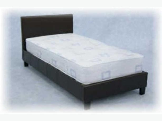 Single faux leather bed other black country location sandwell for Good quality single beds
