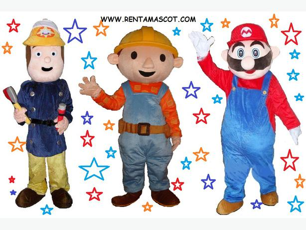 £25 HIRE MARIO LUIGI MARIO BROTHERS ADULT MASCOT FANCY DRESS COSTUME FOR HIRE