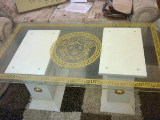 Versace motif coffee table oldbury sandwell for Table versace