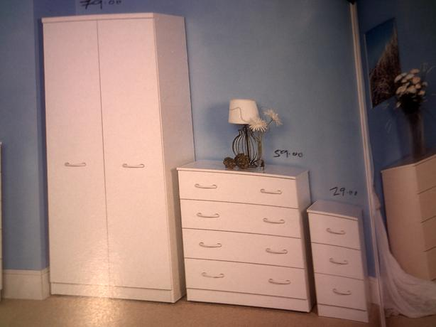 3 piece bedroom set ready assembled and brand new brierley for Ready assembled bedroom furniture