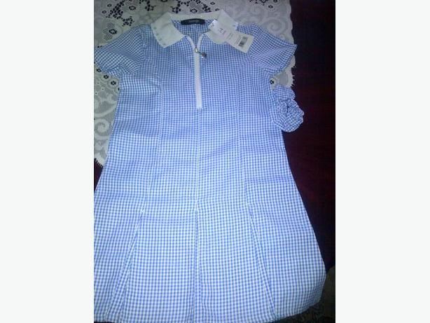 light blue school summer dresses 3-4yrs