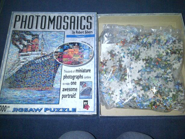 photomasaics titanic 1,000 pieces £2.50