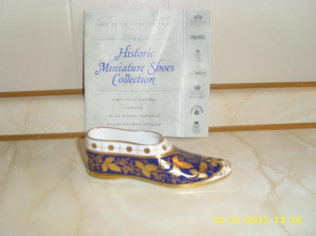 SPODE  Bone China Shoe