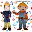 £ Bob the Builder Fireman Sam Spiderman adult mascot fancy dress costume hire