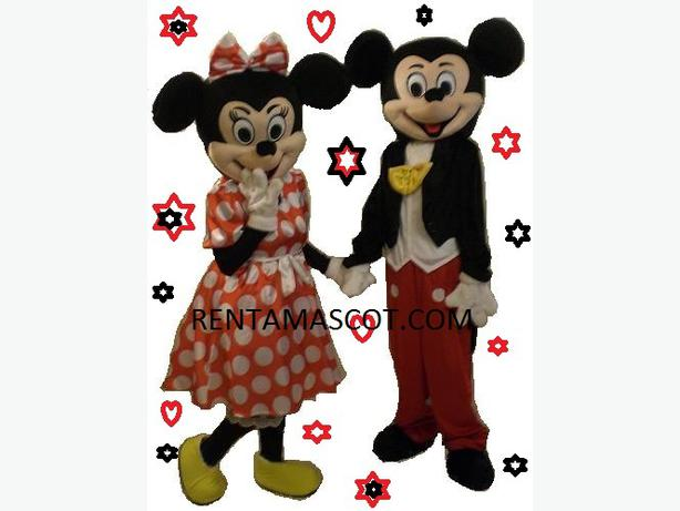 Mickey Minnie Mouse Goofy Mascot costume adult fancy dress hire