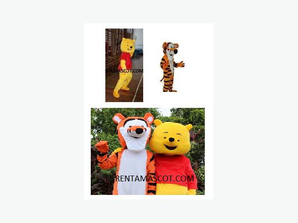 £25 Winnie the Pooh Tigger Adult mascot fancy dress costume hire kids party