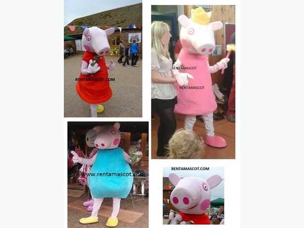 PEPPA PEPPER GEORGE PIG ADULT FANCY DRESS MASCOT COSTUME PARTY HIRE
