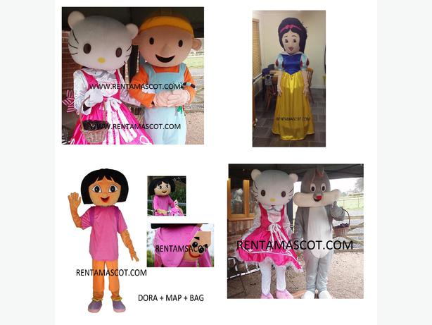 DORA THE EXPLORER HELLO KITTY BUGS BUNNY ADULT MASCOT FANCY DRESS COSTUME HIRE