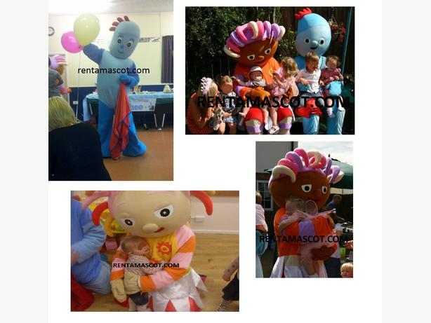 IGGLE PIGGLE UPSY DAISY NIGHTGARDEN ADULT MASCOT FANCY DRESS COSTUME HIRE