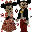 MICKEY MINNIE GOOFY ADULT MASCOT FANCY DRESS COSTUME HIRE