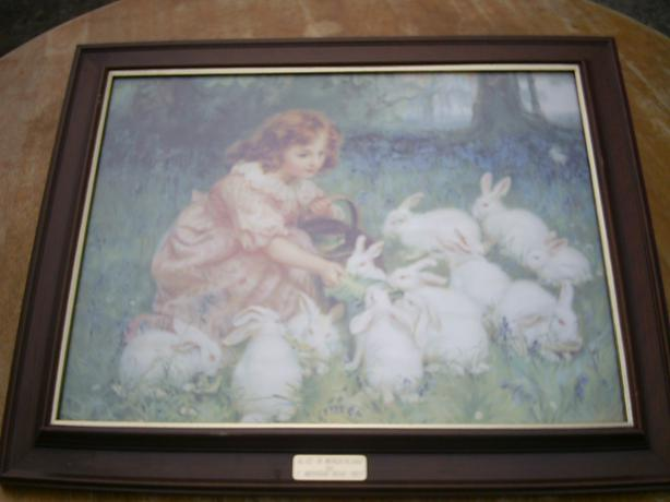 print of alice in wonderland by artist frederic morgan