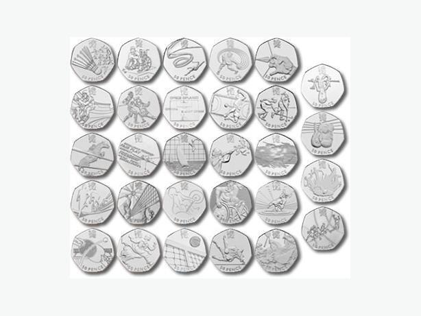 London 2012 Olympic 50p Collectable Coins