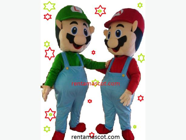 £25 HIRE MARIO LUIGI ADULT MASCOT FANCY DRESS COSTUME PARTY HIRE