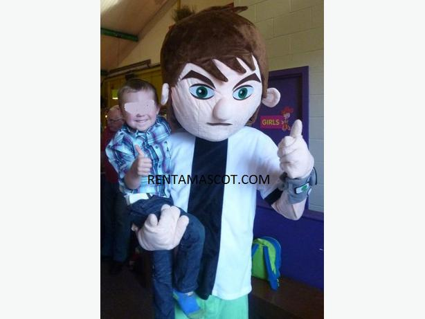 £25  BEN10 BEN 10 ALIEN FORCE ADULT MASCOT FANCY DRESS COSTUME OUTFIT PARTY HIRE