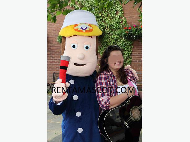 £25 HIRE FIREMAN SAM FIRE MAN ADULT MASCOT FANCY DRESS COSTUME OUTFIT PARTY
