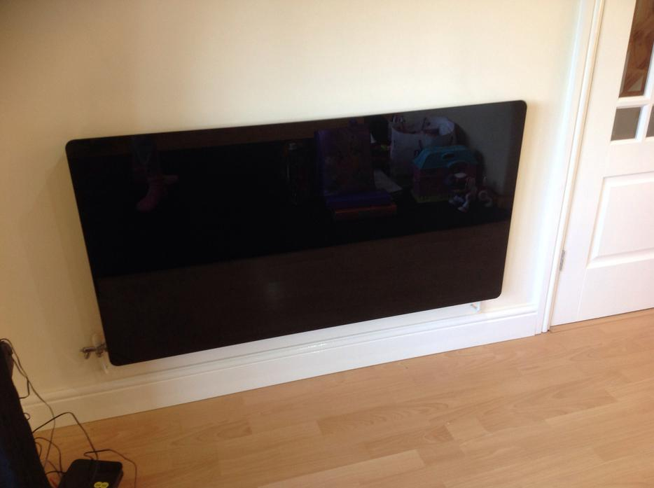 Black Glass Radiator Cover Medium Was 163 89 99 Other Sandwell