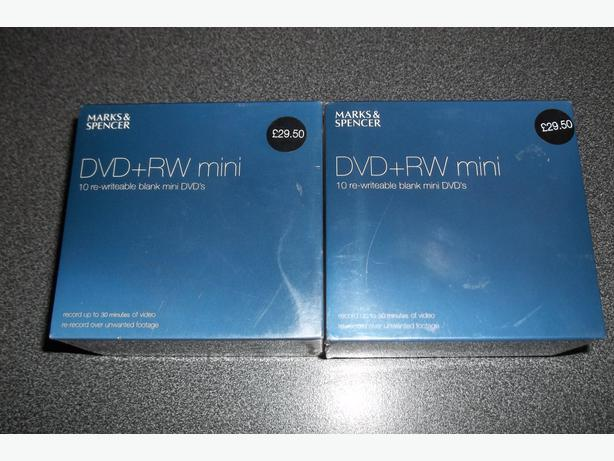 Marks and Spencer dvd+rw mini blank mini dvd's new!