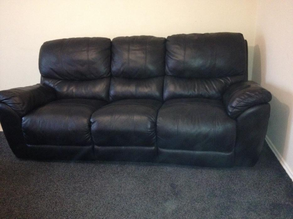 Used Black Leather Sofa Reclining