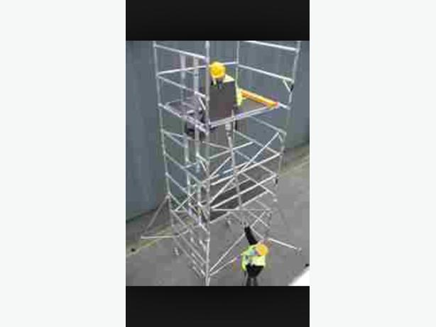 WANTED: BOSS / YOUNGERMAN ALUMINUM SCAFFOLD TOWER & TRIPLE LADDERS