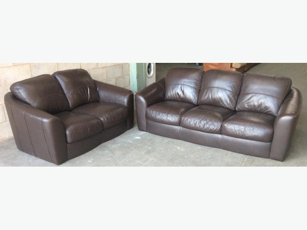 1200 Dfs Brown Leather Sofa Set We Deliver Uk Outside Black