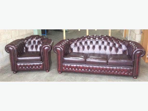 we deliver uk leather high back chesterfield sofa set other dudley. Black Bedroom Furniture Sets. Home Design Ideas