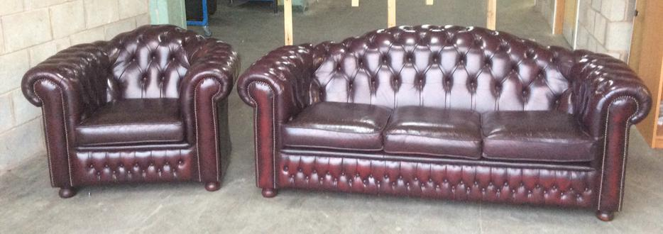 We Deliver Uk Leather High Back Chesterfield Sofa Set Other Birmingham