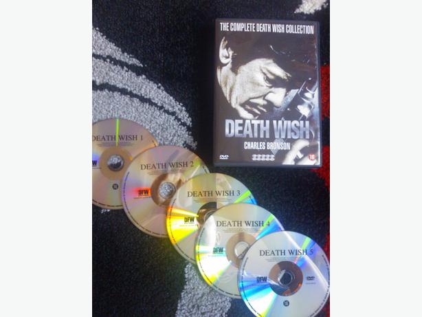 Death Wish Bronson Death Wish Box Set Dvd 1 to 5