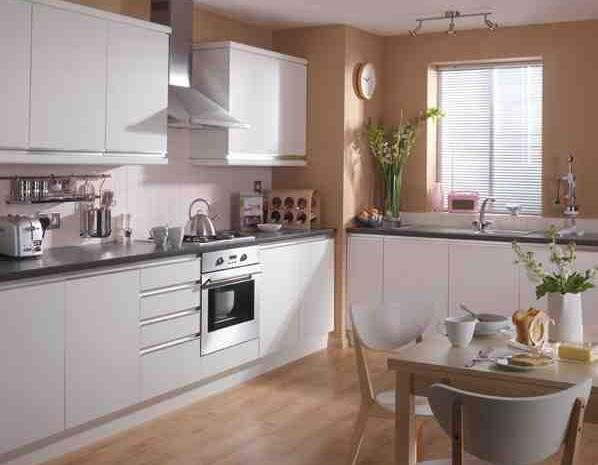 7 piece kitchen units modern satin white brand new for 300mm deep kitchen units