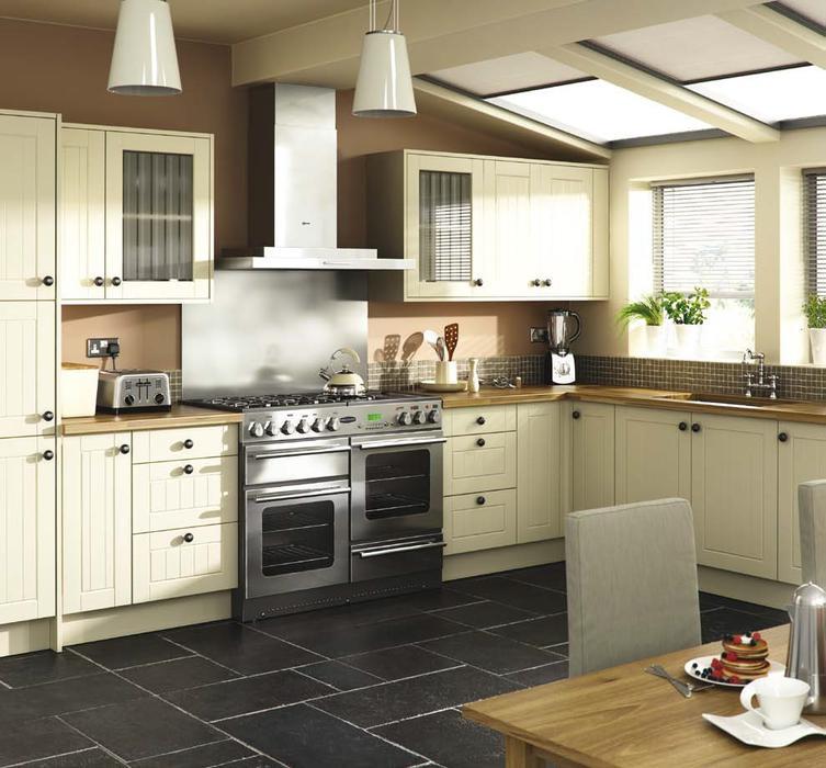 7 piece kitchen units classic matt cream brand new for Cream kitchen carcasses
