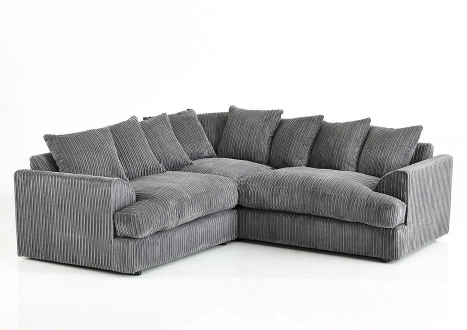 Brand New Ferguson Corner Sofa Jumbo Cord Fabric Outside