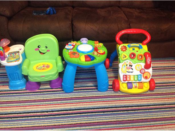 Baby toy bundle vtech walker fisher price zebra learning chair table DUDLEY, Dudley