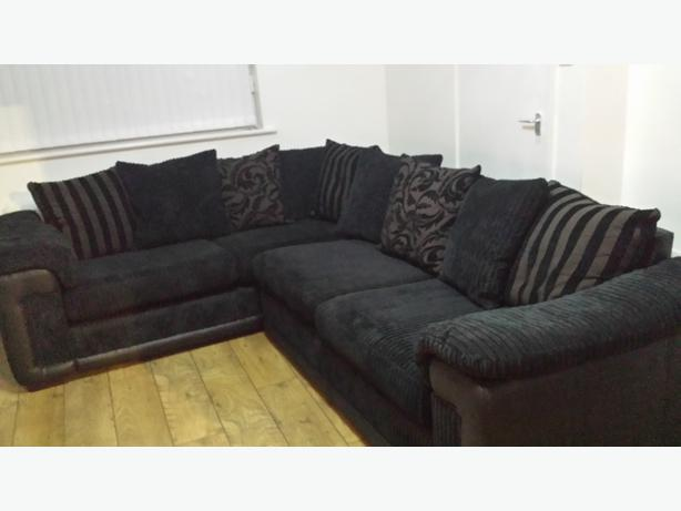  Log In needed £550 · DFS BLACK CORNER SOFA