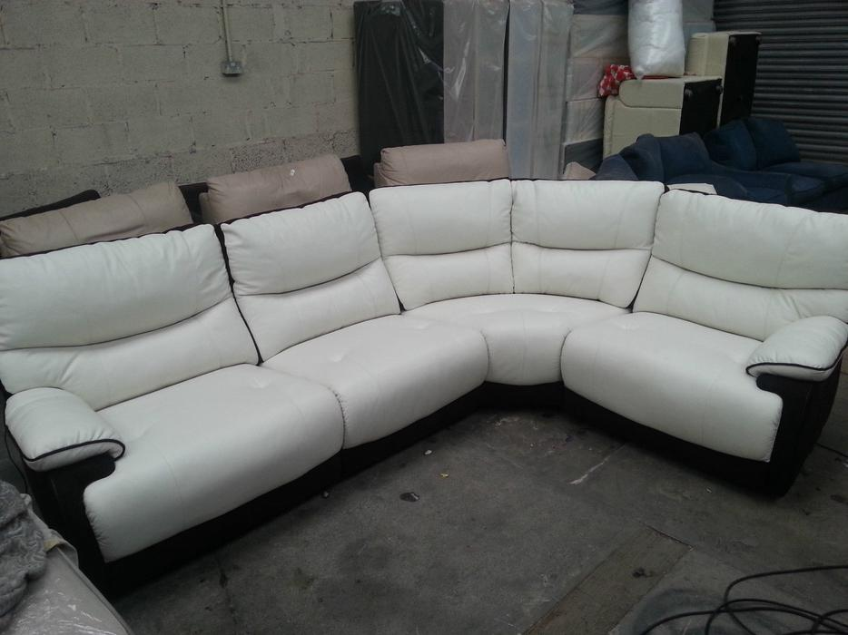 Leather And Suede Sectional Sofa Brown Leather And Suede